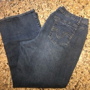 Cato's distress 22 size jeans, bootcut